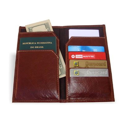 Porta Passaporte em couro