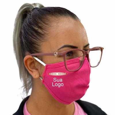 Máscara para proteção em malha dupla