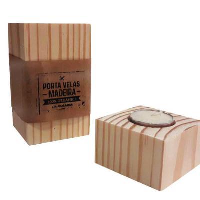 studio-blomma - Porta velas de madeira maciça de reflorestamento. 12 x 7 x 7 cm – Tamanho Grande 8 x 7 x 7 cm - Tamanho médio 4 x 7 x 7 - Tamanho Pequeno