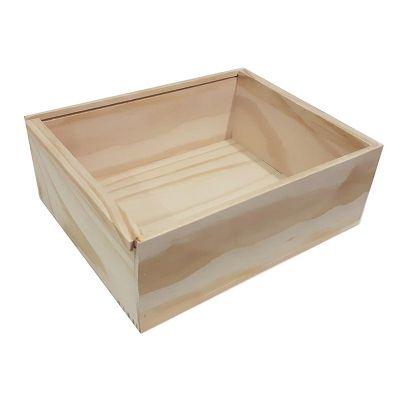 Caixa base de madeira