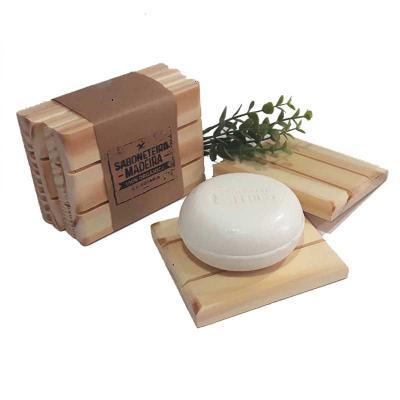 Saboneteira de madeira de reflorestamento. 10 x 9 x 1,2 cm - unidade - Studio Blomma