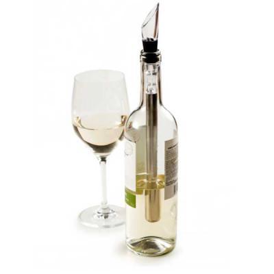 MR Cooler - Com o Bastão Resfriador de Vinhos com Aerador a bebida mantém a temperatura por mais tempo.