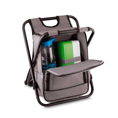 Bolsa Térmica com cadeira  Tecido: Nylon e Poliéster  Tamanho: 36 x 21 x 51 cm  Capacidade 25 Litros - MR Cooler