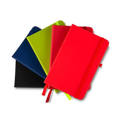 mr-cooler - Cadernos de anotações com elástico Suporte para caneta Capa com material Sintético 80 Folhas pautadas cor bege.