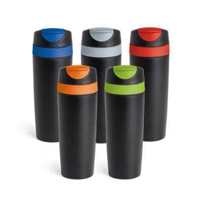 mr-cooler - Copo para viagem. PP.  Com parede dupla e tampa. Capacidade até 510 ml. Food grade. 75 x 221 mm