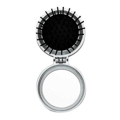 MR Cooler - Escova com espelho redonda em plástico resistente. Parte superior plana e parte inferior emborracha com relevo, estando aberta a peça basta empurrar a...