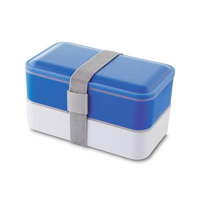 mr-cooler - Lancheira com 02 compartimentos + talheres + elástico para amarração.