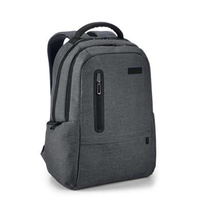 Mochila para notebook. Nylon 2Tone impermeável. Com 2 compartimentos. Compartimento posterior for...