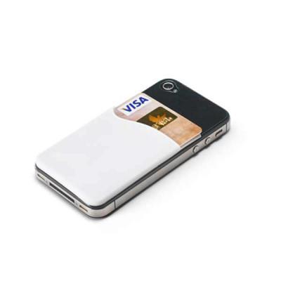 mr-cooler - Porta cartões para celular em Silicone. Com autocolante no verso. 57 x 87 x 3 mm