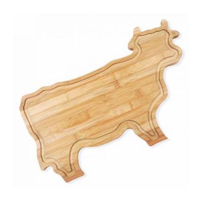 - Tábua para Churrasco/Cozinha em Bambu em formato de boi.  Confeccionada com tripla camada invertida, para dar maior durabilidade e não deformar com o...