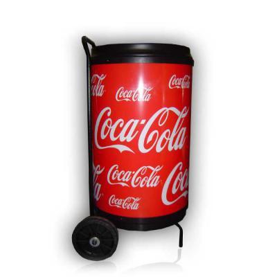 mr-cooler - Cooler com Rodas para 75 latas. Estrutura tubular em aço, com pintura eletrostatica a pó. Moldado em polietileno (PEAD). Cuba moldada em poliestileno...