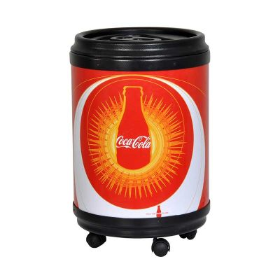 - Cooler promocional com capacidade para 45 latas.