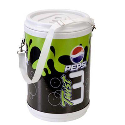 - Cooler promocional com capacidade para 50 latas.