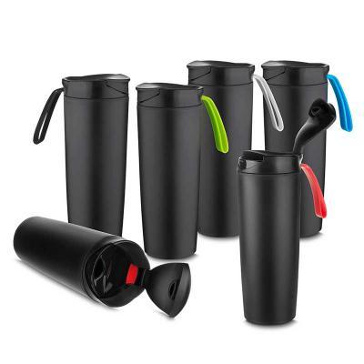 mr-cooler - Copo antiqueda de plástico parede dupla 500ml com tampa e alça  Plástico Utilizado: PP (Polipropileno)  Dimenssão: 22x8,5x27øcm  Peso produto: 0,290kg