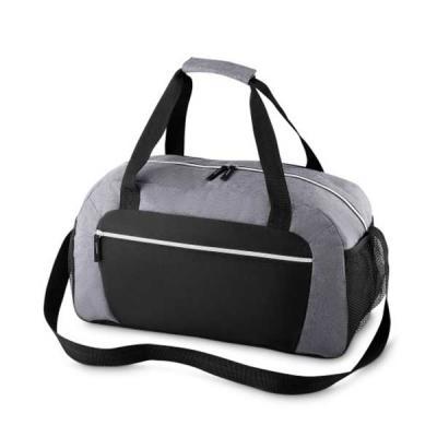 mr-cooler - Mala esportiva de poliéster. Possui alça de mão com pegador cinza de velcro, alça para costa ajustável e bolsos laterais de malha.