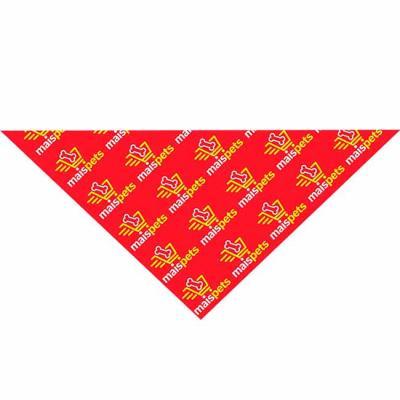 - Bandana triangular em tecido poliester ou 1/2 malha ambas com aplicação de logo em silk - screen