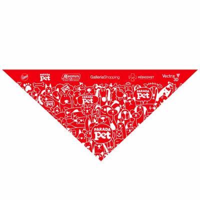 Bandanas para o seu pet fabricadas em tecido poliéster com aplicação de seu logo ou do seu evento