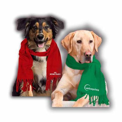Cachecol em Soft para pet Personalizado com logo em bordado eletrônico