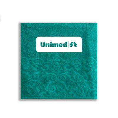- Toalhas de rosto 100% algodão personalizadas em silk ou bordado