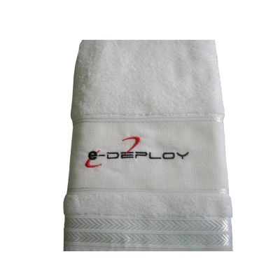 Toalha de banho 100% algodão personalizada.
