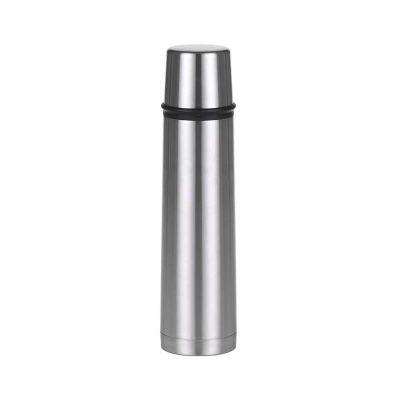 Garrafa térmica inox com capacidade para 1 litro
