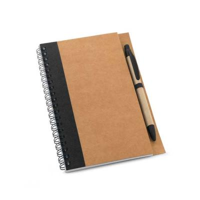 Caderno de anotações em papel kraft. Capa dura. Com 60 folhas não pautadas de papel reciclado. In...