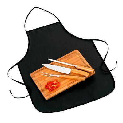promozionale-brindes - Kit churrasco com 5 peças de Bambu e inox