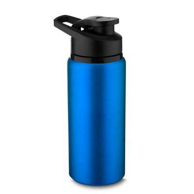 Squeeze em alumínio com tampa plástica. 600ml. 20 x 7,5cm. Disponível nas cores preta, azul, verd...
