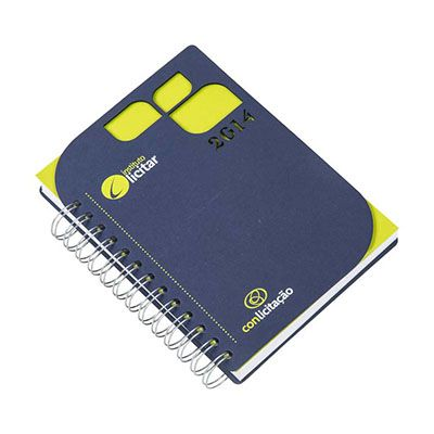 Vintore Brindes Especiais - Agenda capa cartão com recorte.