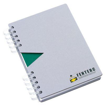Vintore Brindes Especiais - Caderno capa cartão com recorte.