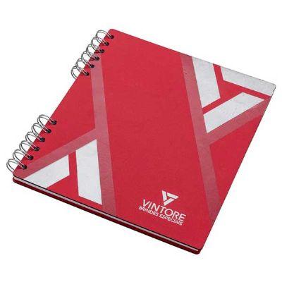 Caderno quadrado capa cartão