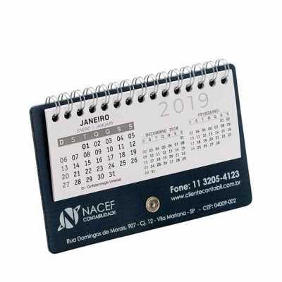 Calendário de mesa personalizado - Vintore Brindes Especiais