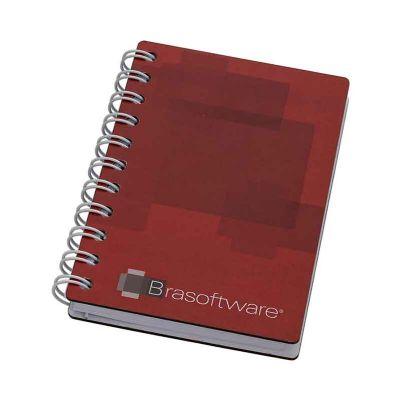 - Capa: 160 x 230 mm, contra capa cartão. 100 folhas 1 x 1, papel off-set, dados pessoais padrão e calendários, acabamento em Wire-o. Fornecido em embal...