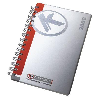 Vintore Brindes Especiais - Agenda capa alumínio
