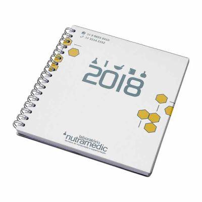 Agenda semanal personalizada capa cartão alumínio - Vintore Brindes Especiais