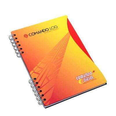 Caderno capa cartão Caderno - formato 180 x 250 mm Capa e contra capa em cartão revestido com pap...