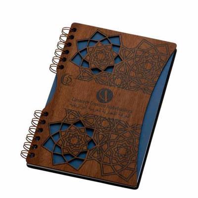 Caderno - formato 160 x 230 mm capa em madeira e contra capa em cartío revestido Miolo: 155 x 225...