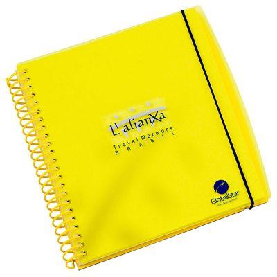 Vintore Brindes Especiais - Caderno capa acrílica e acabamento.