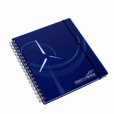 Caderno capa acrílico Aderno - formato 205 x 230 mm Capa em acrílico e contra capa em cartão reve...