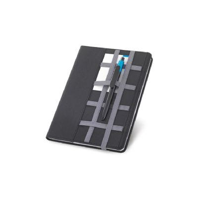 Caderno com capa de couro sintético - Vintore Brindes Especiais