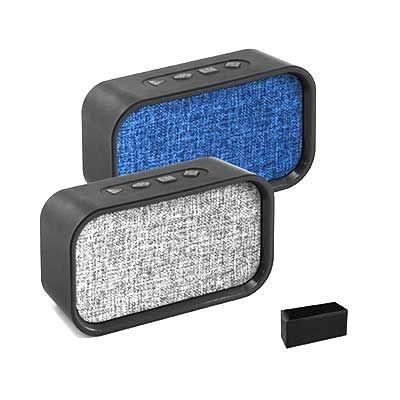 Caixa de som com microfone - Vintore Brindes Especiais