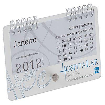 vintore-brindes-especiais - Calendário 03AC personalizado com acabamento em wire-o e acrílico.