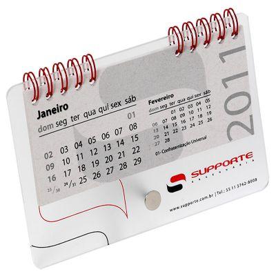 vintore-brindes-especiais - Calendário personalizado com acabamento em wire-o e acrílico.