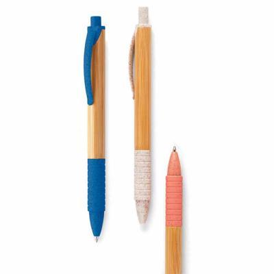 Esferográfica. Bambu. 1,5 km de escrita. Elementos em fibra de trigo e ABS. Ø11x142 mm SPOT SPOT