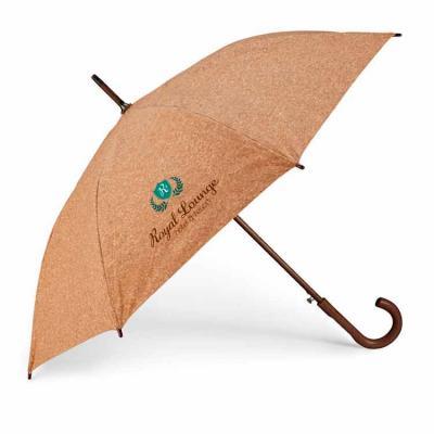 Guarda-chuva. Cortiça. Haste e pega em madeira. Abertura automática. ø1050 mm | 890 mm