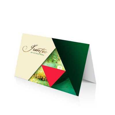 Vintore Brindes Especiais - Cartão de Natal linha News Papel Supremo 250 g/m² Envelope AA 90 g/m² Formato Fechado: 20 x 14 cm
