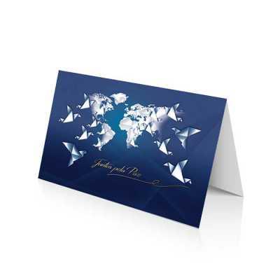 Cartão de Natal linha News Papel Supremo 250 g/m² Envelope AA 90 g/m² Formato Fechado: 20 x 14 cm - Vintore Brindes Especiais