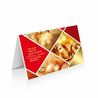Cartão de Natal linha News Papel Supremo 250 g/m² Envelope AA 90 g/m² Formato Fechado: 20 x 14 cm