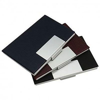 Completa Promo - Porta cartão em couro sintético.
