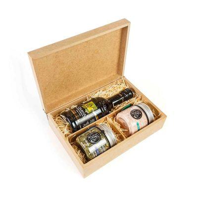 Amélio Presentes - Kit Gourmet para preparo de Saladas com Azeite Extra Virgem e Temperos